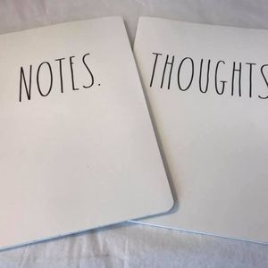 NEW Rae Dunn Set of 2 Notebooks Thoughts & Notes